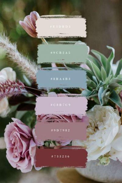 Συνδιασμοι πρασινου χρωμαγτος για γαμο