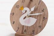ξύλινο-ρολόι-κύκνος