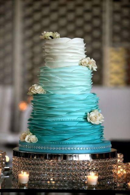 tiffany_color_wedding_cake_elcreations