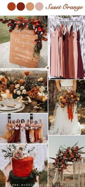 Boho γαμος σε πορτοκαλί αποχρώσεις