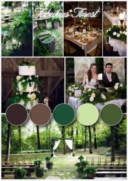 Σκουρες Πρασινες Αποχρωσεις για γάμο