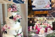 Navy Blue & Fuchsia Wedding Decoration Elcreations
