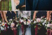 Navy Blue & Marsala Wedding Decoration Elcreations