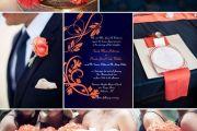 Μπλε & Κοραλί Wedding Decoration Elcreations