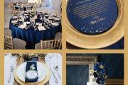 Μπλε και Χρυσό Wedding Decoration Elcreations