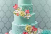 tiffany_color_wedding_cake_ideas_elcreations