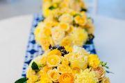 yellow-blue-wedding-centerpiece