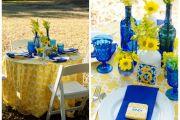 yellow-blue-wedding-table-centerepiece