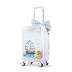 Ζωγραφιστή βαλίτσα trolley καραβακι